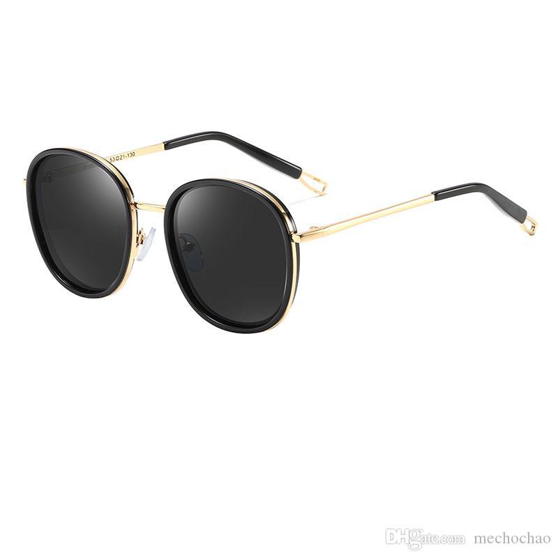 Und Sonnenbrillen-Kinder-High-Definition-Gold High-End-Metall-Sonnenbrillen Qualität Persönlichkeit Jungen UV400 Mädchen Rahmen Top-Geschenk GHVWL