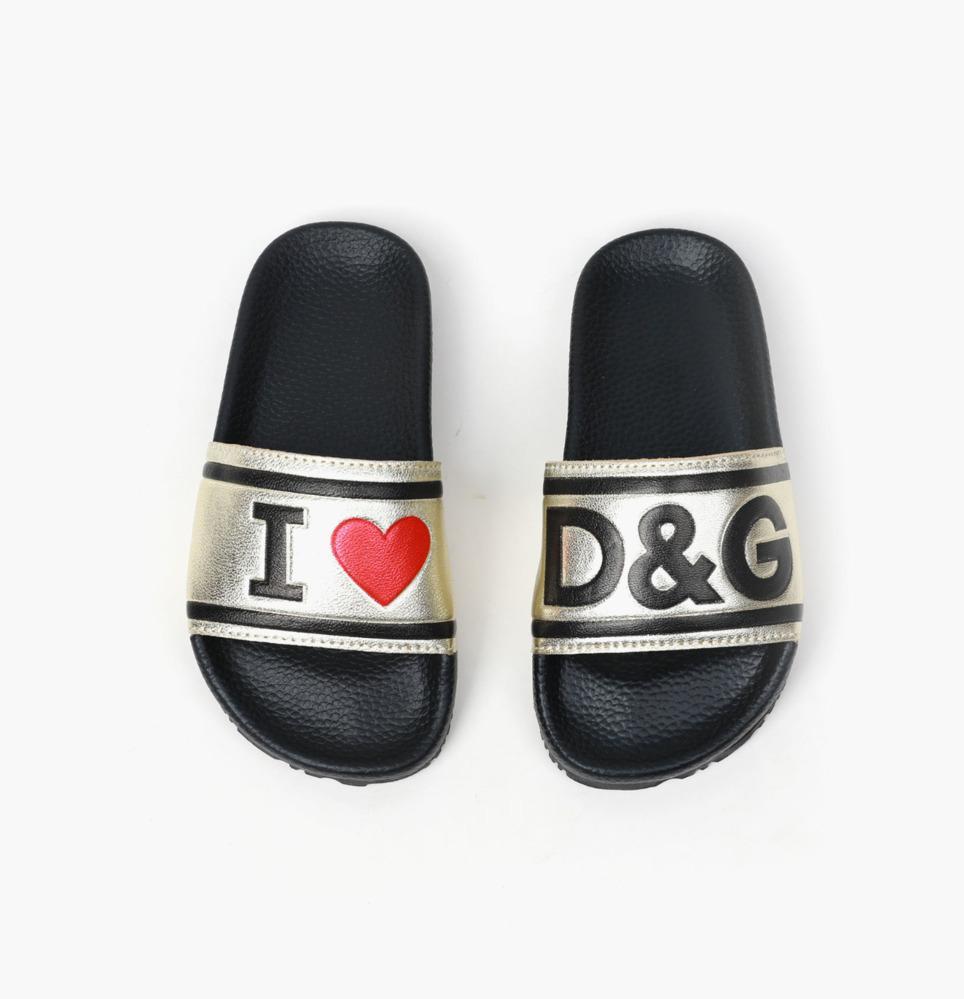 La tendencia del verano de alta calidad ocasional de los deslizadores nuevos muchachos niñas Lettered imprimir zapatillas Modelo del amor 030915