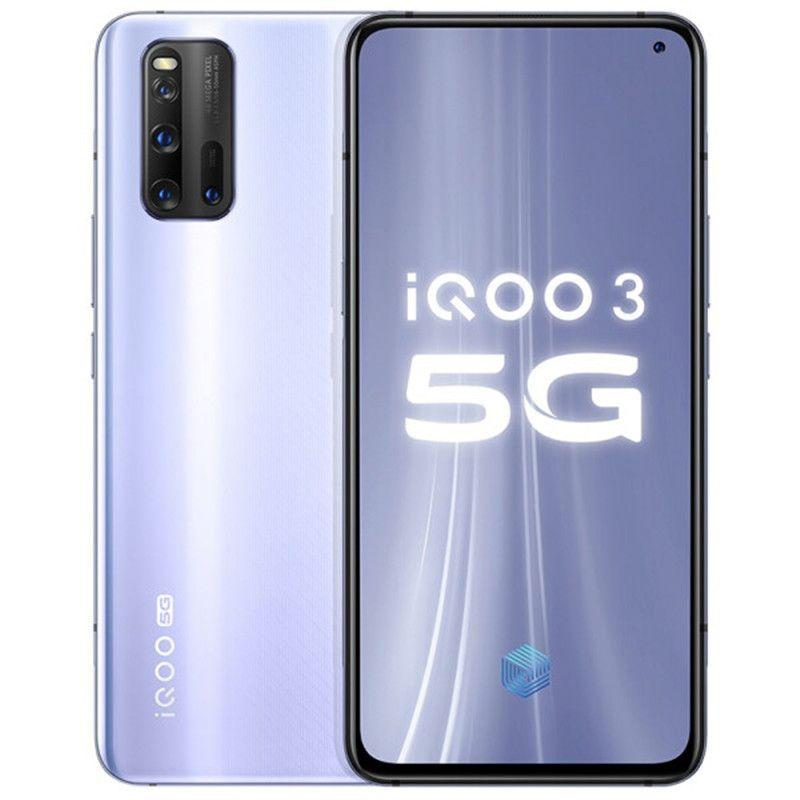 "Original Vivo IQOO 3 5G Mobile Phone 12GB RAM 128GB 256GB ROM Snapdragon 865 Octa Core Android 6.44"" 48MP NFC Face ID Fingerprint Cell Phone"