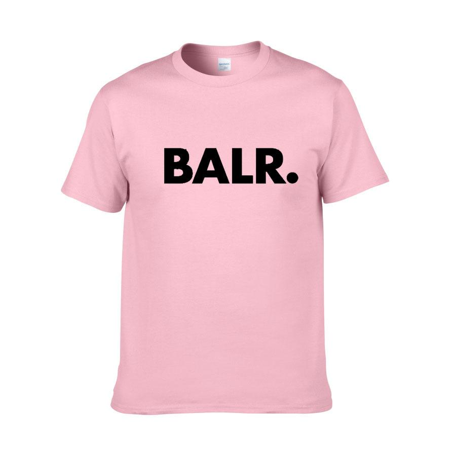 Fashion-2018 yeni yaz marka BALR giyim O-Boyun gençlik erkek T-shirt baskı Hip Hop t-shirt% 100% pamuk moda erkekler T-shirt