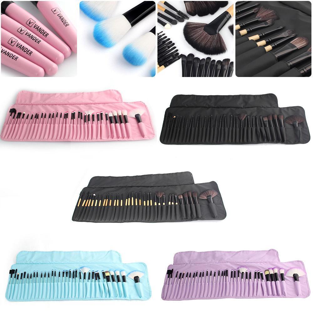 32 ADET / Set Profesyonel Güzellik Makyaj Fırçalar Seti Araçları Vakfı Allık Göz Farı Pudra Yukarı Fırçası Tuvalet Seti Kılıf olun