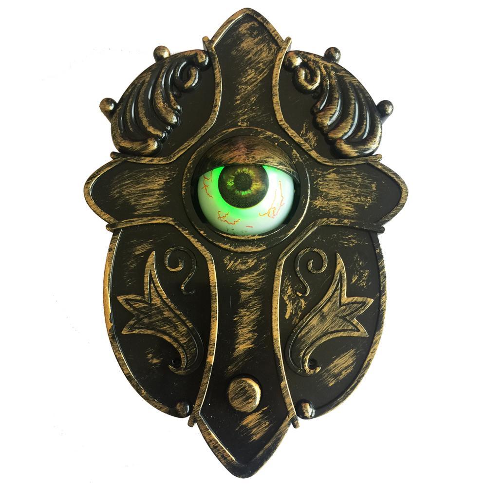 Campanello animato con gli occhi di Light-up suono e Prova-Me Talking Eyeball campanello per le decorazioni di Halloween