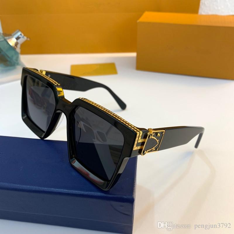 O mais recente venda popular moda homens designer de óculos de sol 0937 quadrado placa de metal moldura quadro de qualidade superior uv400 lente com caixa