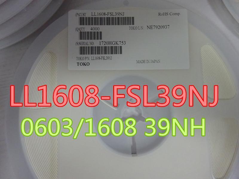 100шт / серия индукторы LL1608-FSL39NJ 0603/1608 39NH в наличии бесплатной доставкой