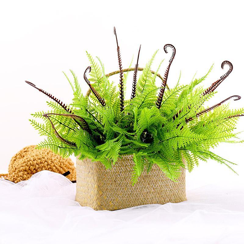 Falso Planta Fern persa grama Wall Decor casamento artificial flor verde planta de plástico Folha de Home Garden decoração do escritório paisagem