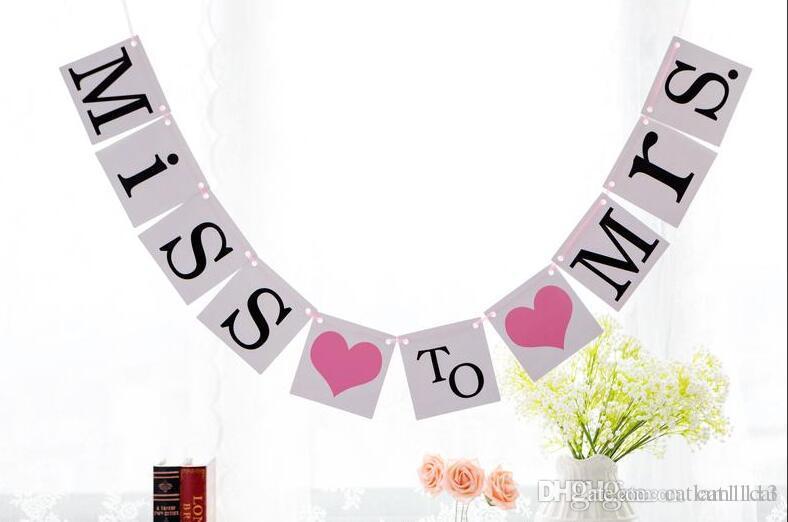 Süslemeleri ve Fotoğraf Prop - Gelin Duş için bayan Banner ve Bachelorette Party Miss