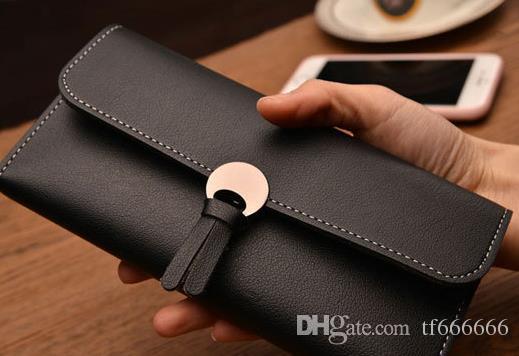Корейская версия дамского длинного кошелька с 3% скидкой мягкий кошелек и сумка с несколькими картами