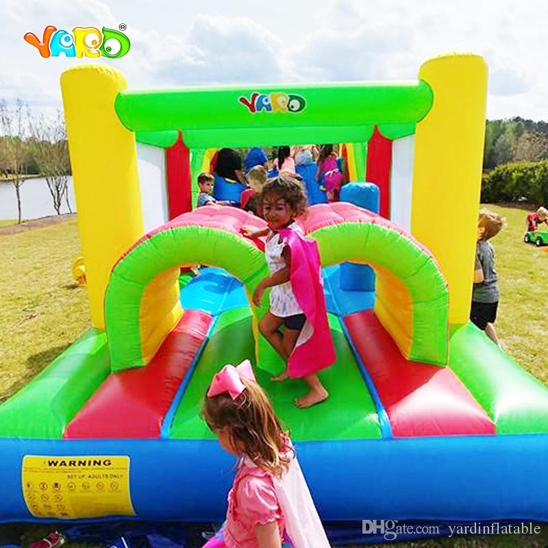 YARD Inflatable Bouncy Castle Obstacle Course Jumper Moonwalk Trampoline For Kids