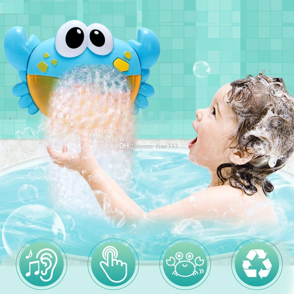 12 Song Musical Crab Bubble Machine Bubble Maker Infant Baby Kid Bath Shower Toy
