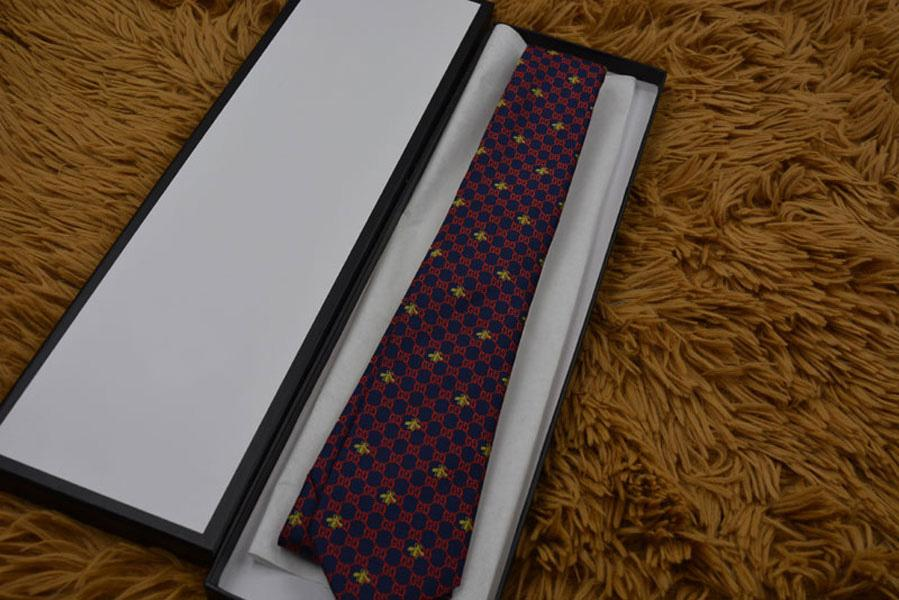 Fashion new men's tie classic yarn-dyed silk tie 8cm fashion wedding tie business Neck Ties gift box package 6693