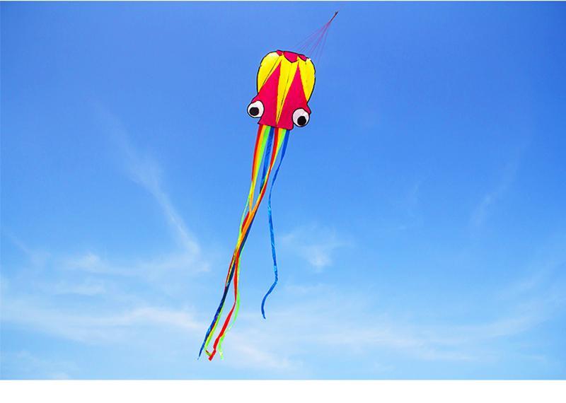 freies Verschiffen hohe Qualität große Krake Drachen mit Griff Linie Kindern Drachen Großhandel Adler Kitesurfen hcxkite Fabrik