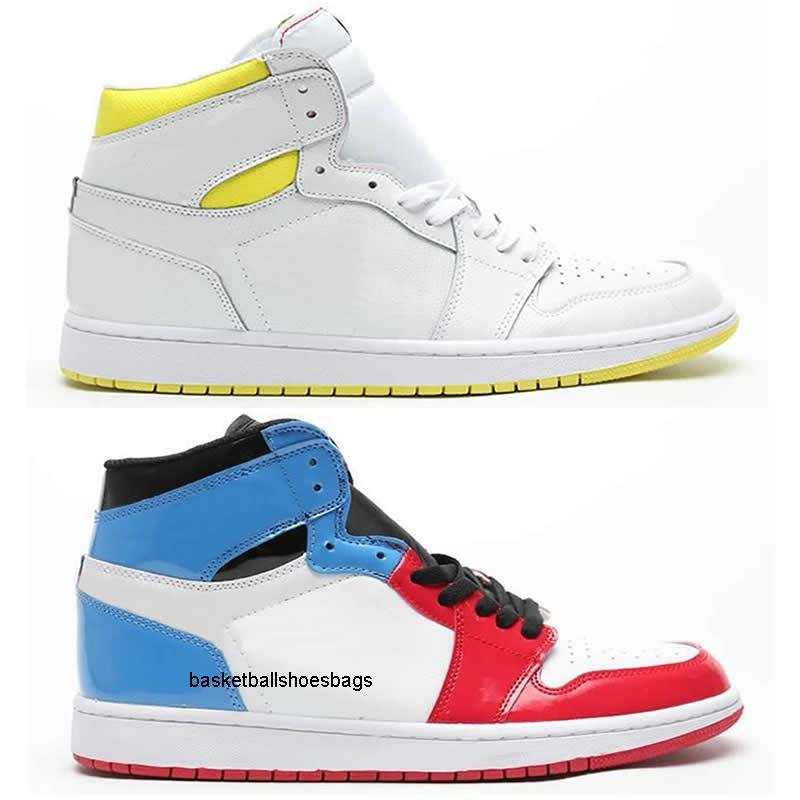 La nueva llegada 2019 tamaño de los zapatos de vuelo Ys Sp Primera Clase 1 de alta Og para hombre de baloncesto de los hombres de las mujeres de alta calidad azul blanco rojo del diseñador zapatillas de deporte 36-46