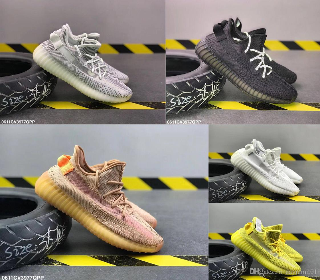 2020 Designer Sneakers Kanye High Quality Sesame Oil Ice Yellow 36 45 V2 Designer Shoes Blue Coloring Red Male And Female Running Shoes From