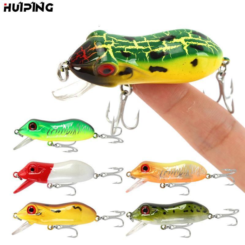 New LIVETARGET Frog Popper lure 6cm 10.3g 7colors Topwater Floating 3D Frog Blackfish hard bait