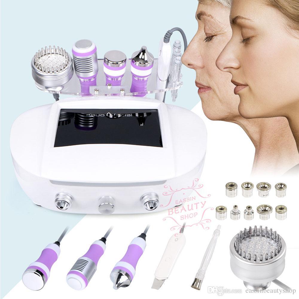 6 1 Microcurrent + Foton Soğuk Hammer Mikrodermabrazyon Su Hidro Dermabrazyon Spa Skin Gözenek Temizleme Güzellik Machine