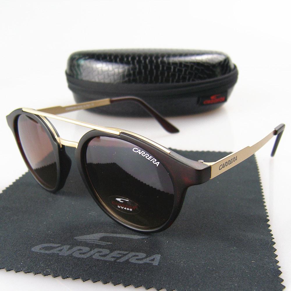 Üst Kalite Popüler Moda Kadınlar Lüks Tasarımcı Güneş Klasik Erkekler Metal Çerçeve Gözlük Retro ile Kutuları