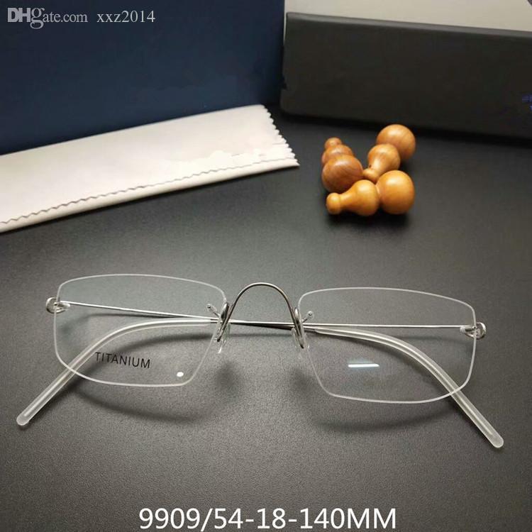 إطار EYEWEAR بدون إطار مصنوع يدويًا من التيتانيوم متعدد الإمكانات HRX- نظارات طبية بدون مسمار مصمم حقيبة مجموعة كاملة