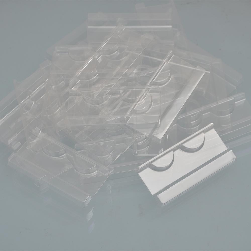 FAI DA TE all'ingrosso 100 / pacco plastica trasparente ciglia ciglia 25mm visone vassoio ciglia per ciglia per ciglia scatola di imballaggio