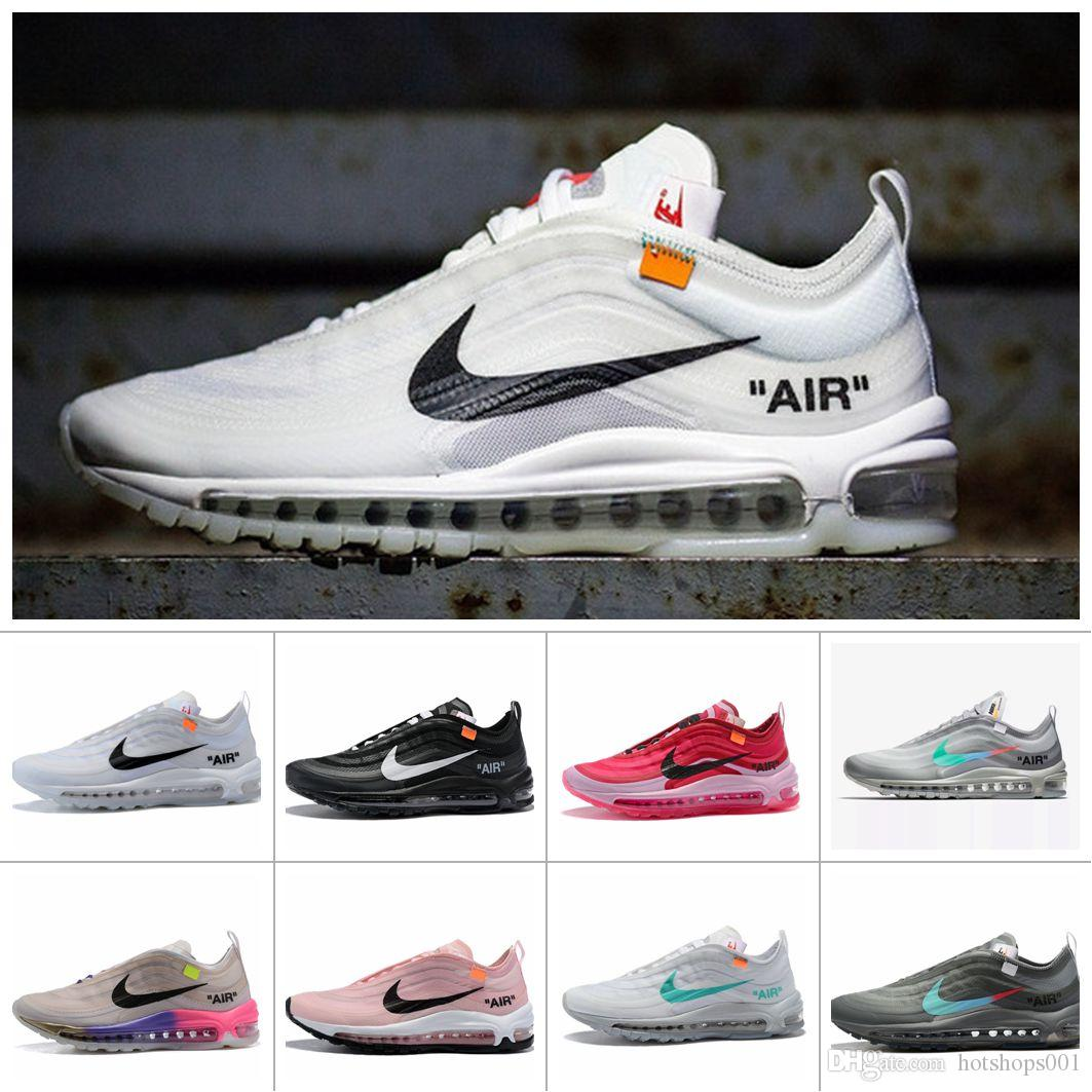 Air Max 97 Off White Tn Cushion Running Shoes Women Athletic