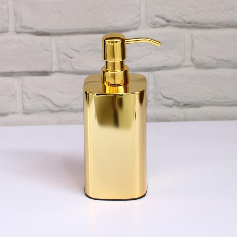 Liquid Soap Dispenser 304 Stainless Steel Golden Hand Kitchen Sink Soap Container Bathroom Shampoo Holder Wall Mounted Bottle