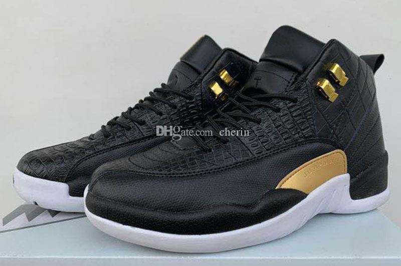 first rate f37a1 0b7b4 2019 New Jumpman 12 Midnight Black WMNS Brown Black Serpentine CNY  Basketball Shoes 12s Game Royal CNY XII Taxi International 40 ~47 Shoes For  Sale ...