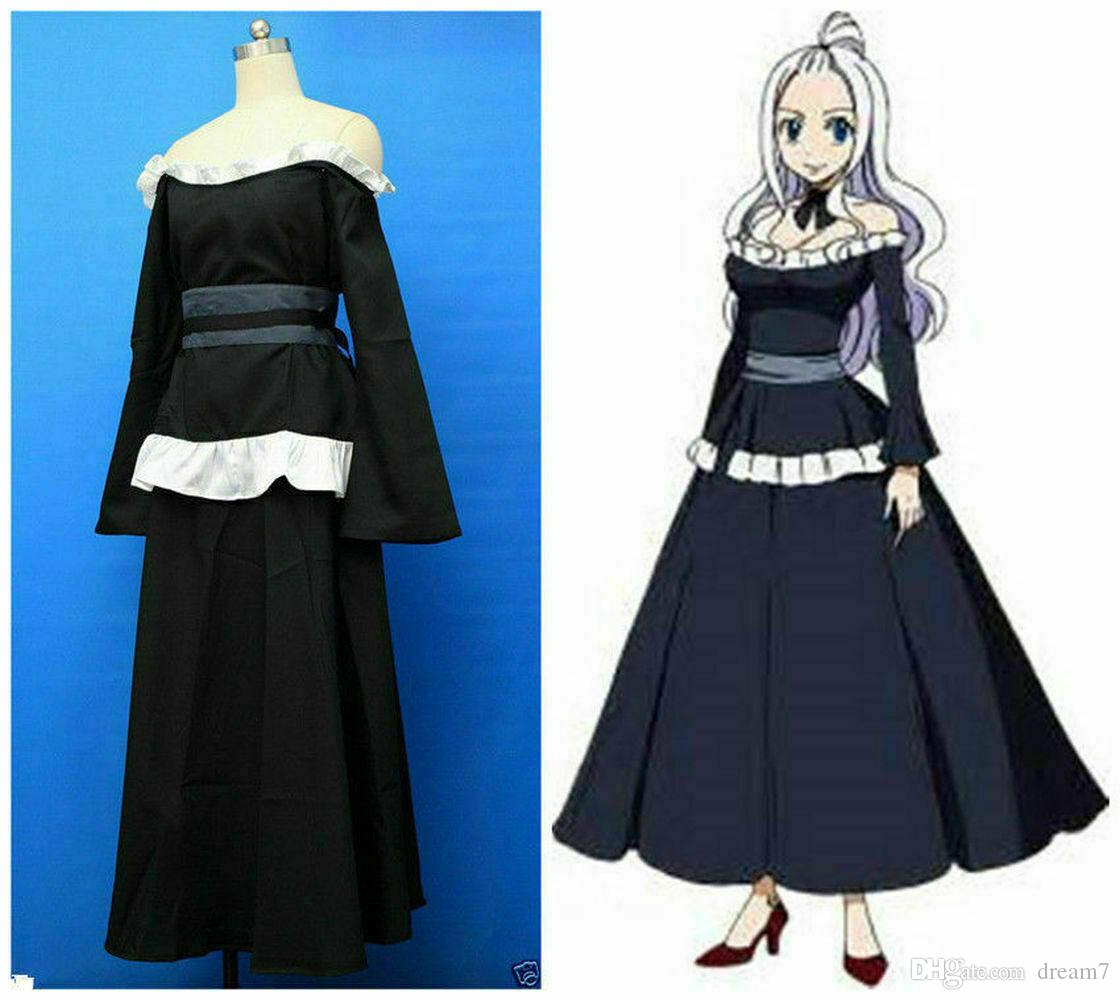 Fairy Tail Mirajane Strauss Black Dress Cosplay Costume Custom Made Party Dress Themes Funny Halloween Group Costumes From Dream7 46 15 Dhgate Com (y/n) was only nine when they lost lisanna, she felt lost and empty. fairy tail mirajane strauss black dress