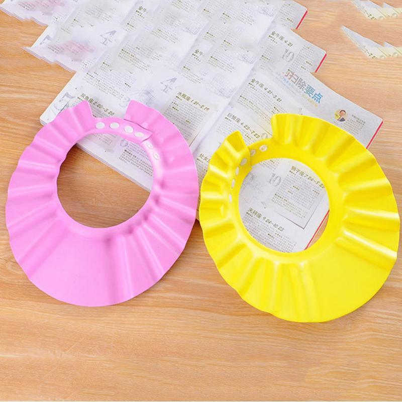 Baby Safe Baby Shower Cap Bambino Bagno Cappello Regolabile Baby Shower Cap Proteggere gli occhi Ear Ear Lavello Scudo per bambini Cappuccio impermeabile VT0467