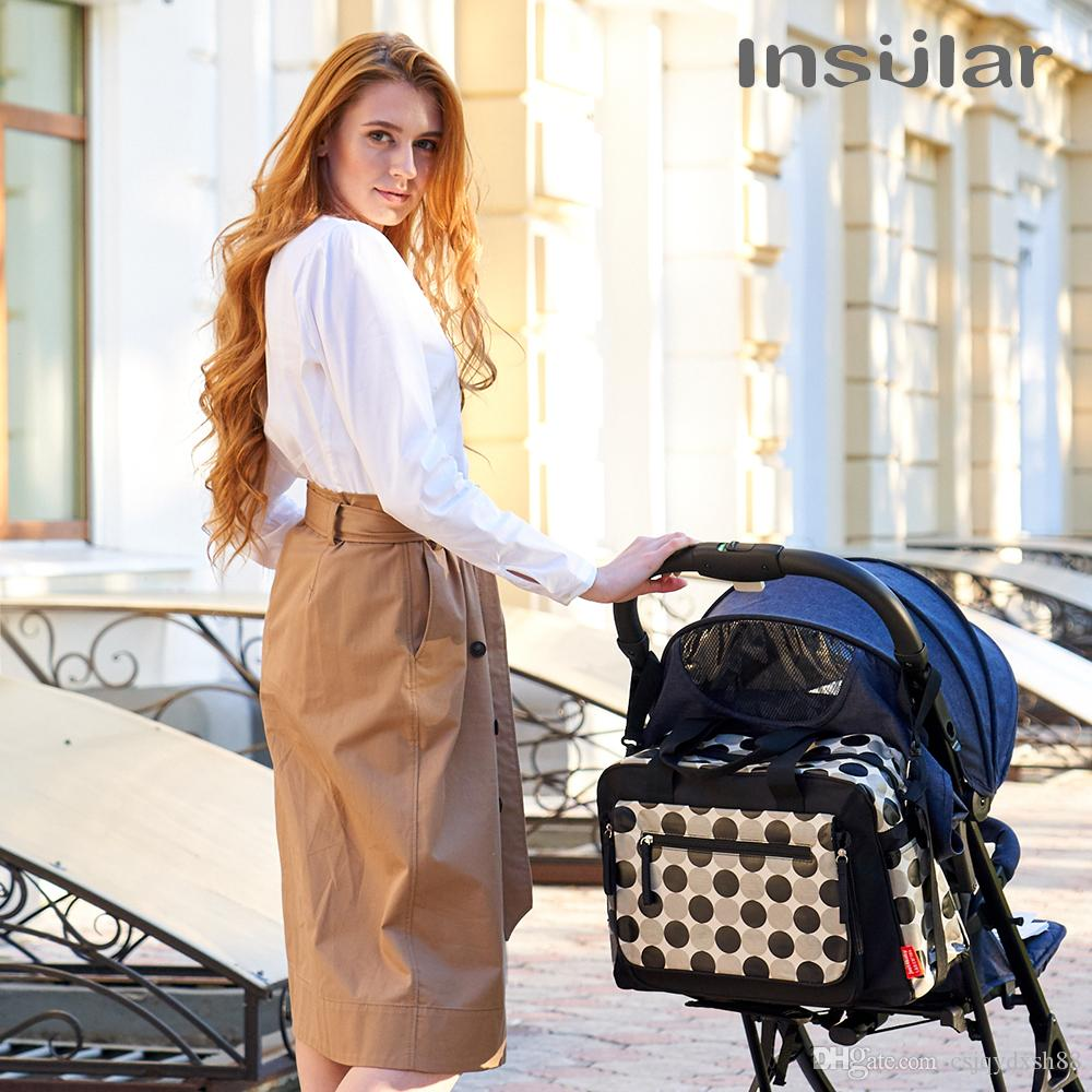 New Arrival Baby Mummy Maternity Bag Large Desinger Baby Diaper Changing Bags Baby Bag with Stroller Straps for Mom Care