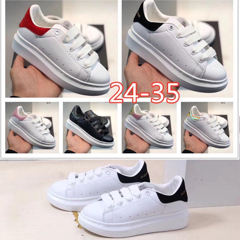 Big Kids Scarpe casual piattaforma bambini delle ragazze dei ragazzi di sport formatori di lusso dello stilista scarpe da tennis all'aperto bambino neonato maschio Dimensione 24-35