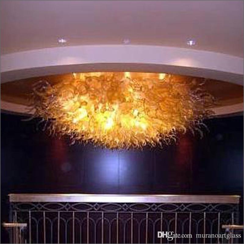 Haute qualité Modern Style Led mur d'éclairage en verre soufflé à la main Lustre lustre en verre de Murano borosilicate pour la décoration de mariage