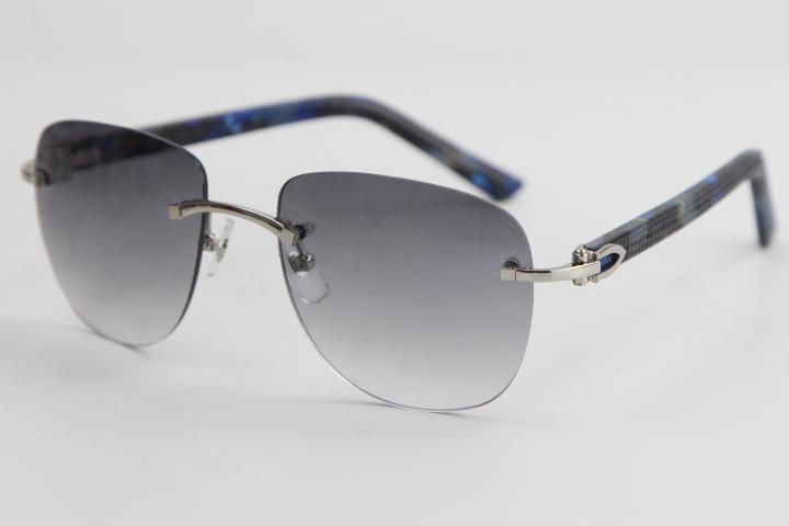 판매 무테 금속 격자 무늬 판자 선글라스 고유 한 대형 모양 공상 안경 패션 높은 품질 안경 남성과 여성