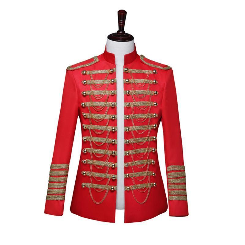 Hommes Blazer Costumes de style européen Cour Gothique Uniformes Homme Jakcet Performances CAOT étape Vêtements
