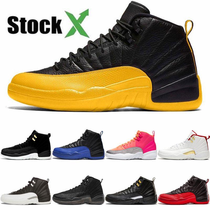 رخيصة 12 12S FIBA CNY لدت أحذية كرة السلة رجل إمرأة انفلونزا XII لعبة الملكي نحلة عكسي تاكسي الأزرق الملكي رياضة حذاء رياضة