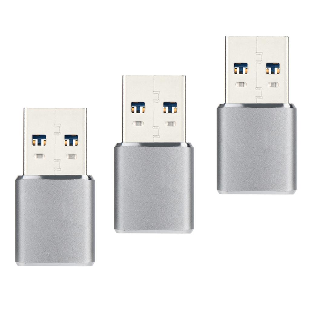 3-in-1 micro SD Card Reader USB 3.0 TF Card Adapter per computer PC Android Phone Tablet fotocamera 5Gbps, Argento