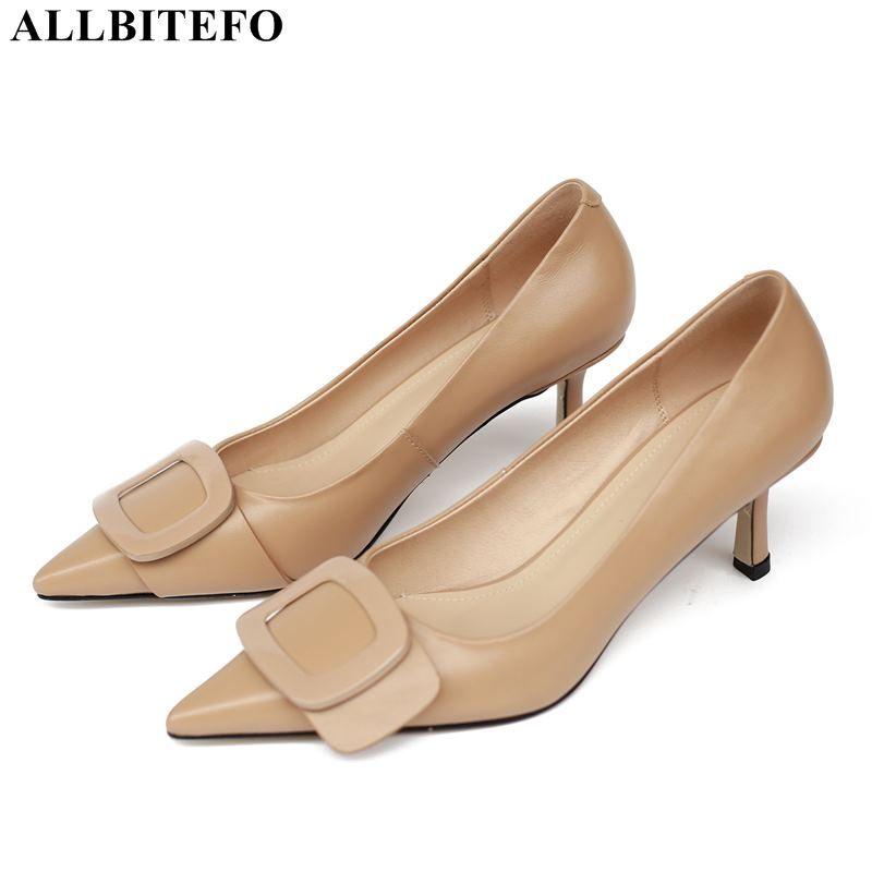ALLBITEFO sexy high heels party women shoes genuine leather women high heel shoes office ladies autumn heels