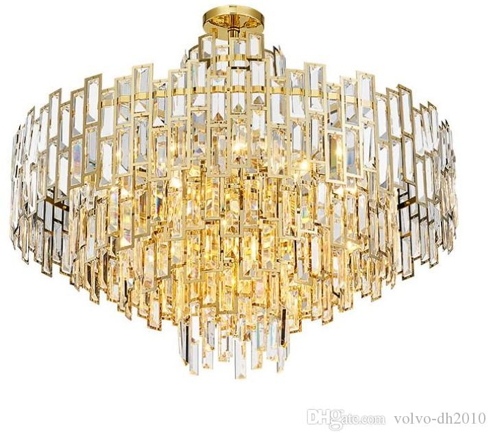 Modern Art Deco LED Chandelier Lustres Luxury Lobby Chandelier Dining Room Living Room lamps Gold Restaurant and Bar lamp LLFA