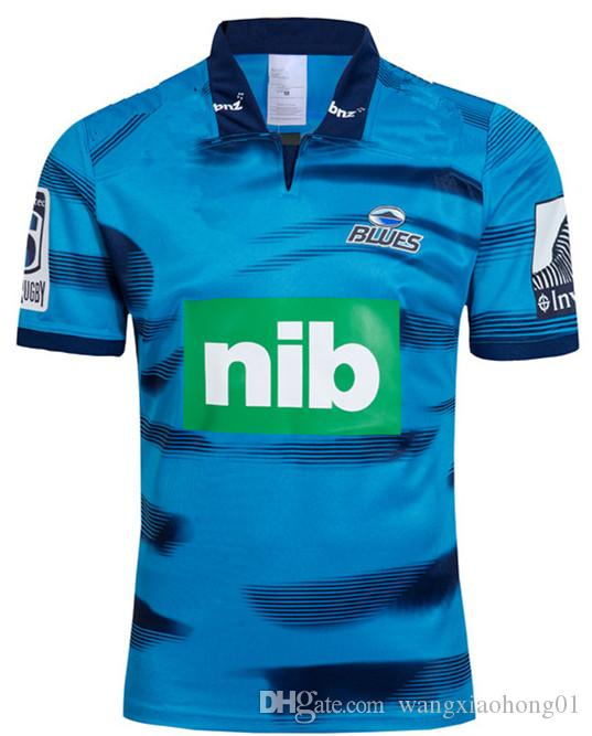 New Zealand Super Rugby Jerseys 2019 blues jersey home away rugby Jerseys 18 19 blues Training shirts S-5XL (can print)