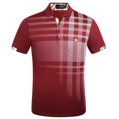 Desenhador Mens Polos Camisas Polos Luxo verão para homens Suave T-shirt listrados bordados marca Mens Casual Sólidos Roupa 11