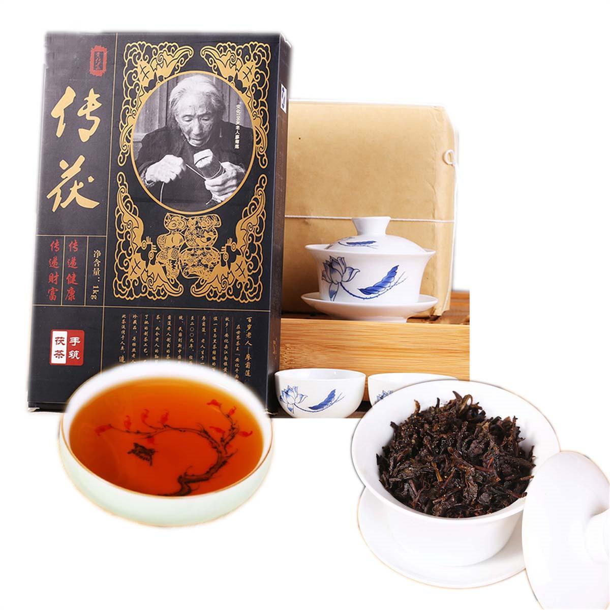 Pu Er préféré de thé brique Hunan Anhua thé noir construit à la main Ripe thé chinois brique sain vert alimentaire