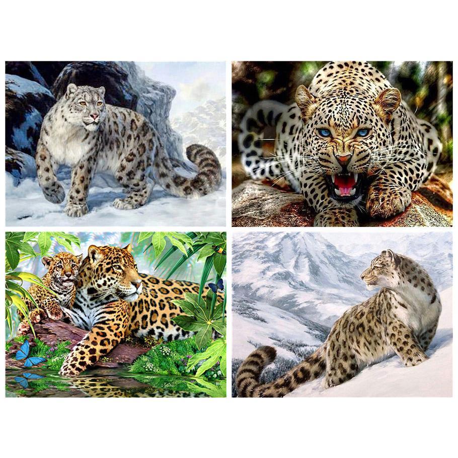 leopardo diamante Pittura ricamo diamante 5d Fai da te pieno di diamanti quadrati animali immagini del mosaico buddha di strass
