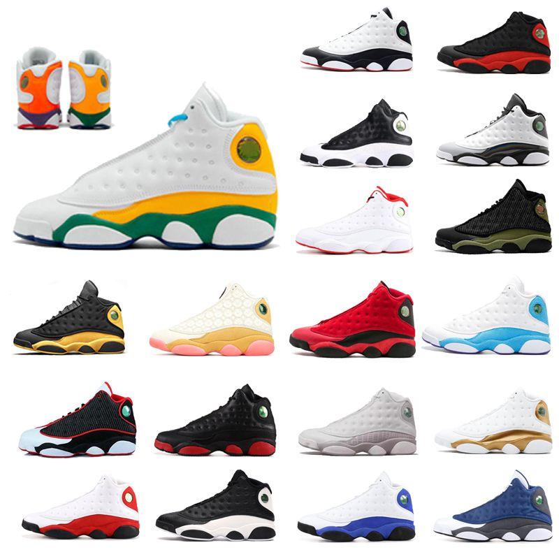 2020 최신 13 개 13S 남성 농구 신발 오로라 녹색 시카고 3M GS 하이퍼 남성 신발 운동화 트레이너 신발 크기 36-47