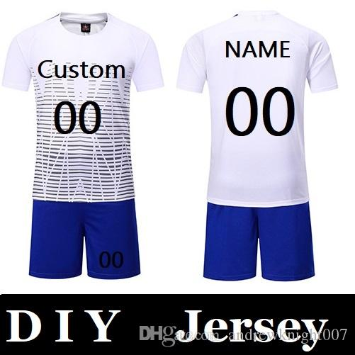3f2aa292c Customize Men Professional Football Suits Sets New Season Team Soccer  Jersey Youth Training Football Uniform