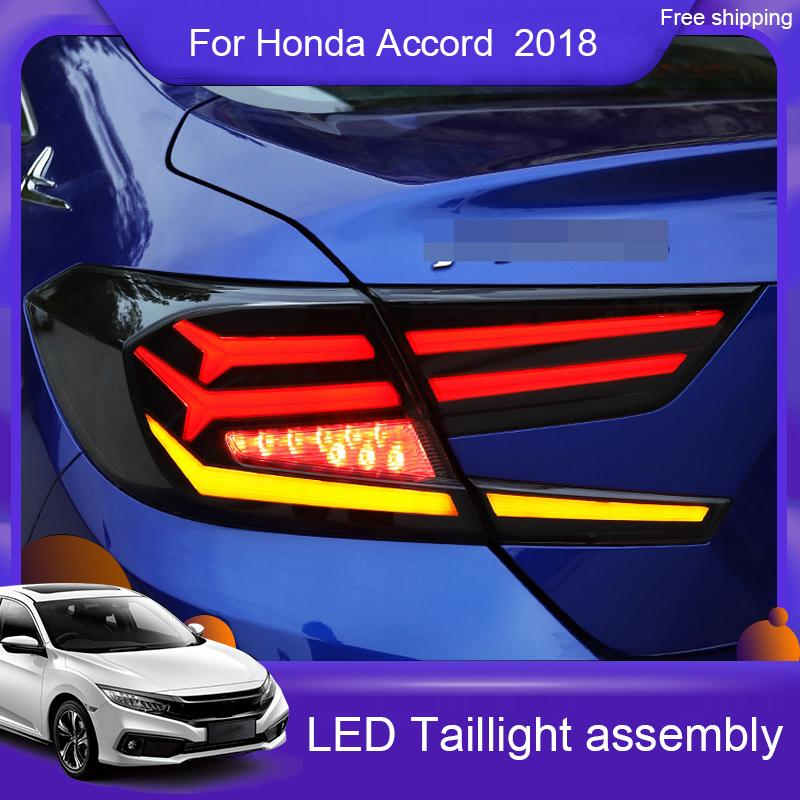 2021 Car Styling For Honda Accord 2018 2019 Accord Tail Lights New 10th Led Tail Light Led Rear Lamp Led Rear Lamp Turning Reversing Brake Light From Pentium123 631 30 Dhgate Com