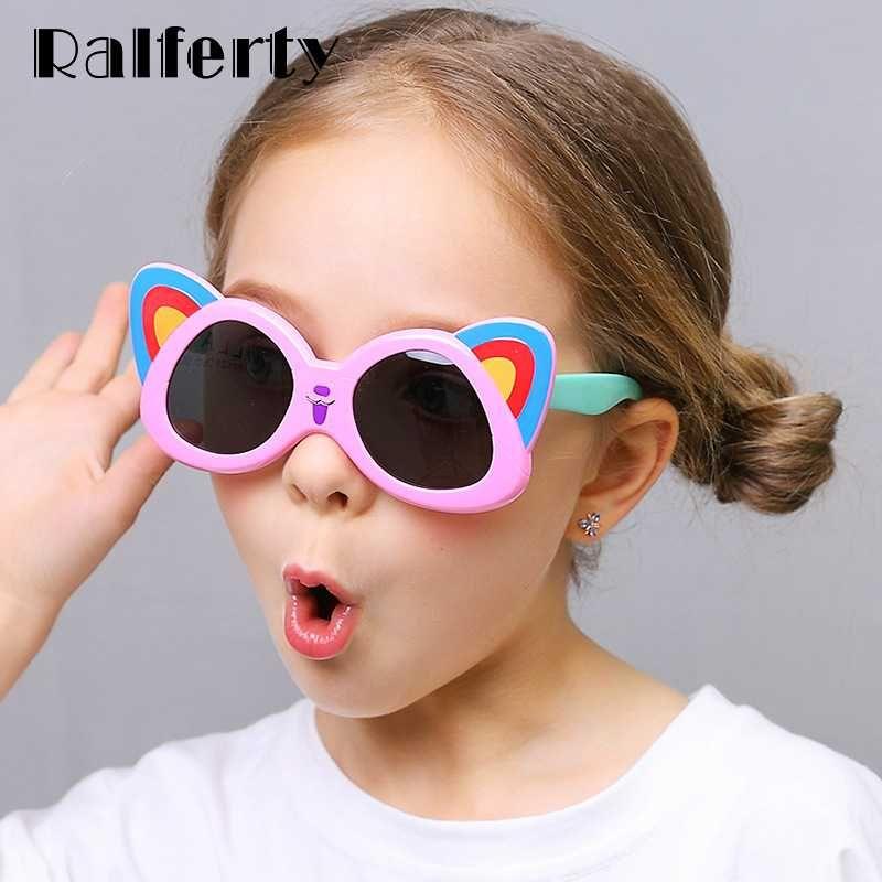 Ralferty Esnek Çocuk Güneş Polarize Güzel Karikatür Güneş Gözlükleri Çocuk Açık Gözlükler yılında Toplu Shades Gözlük K8218
