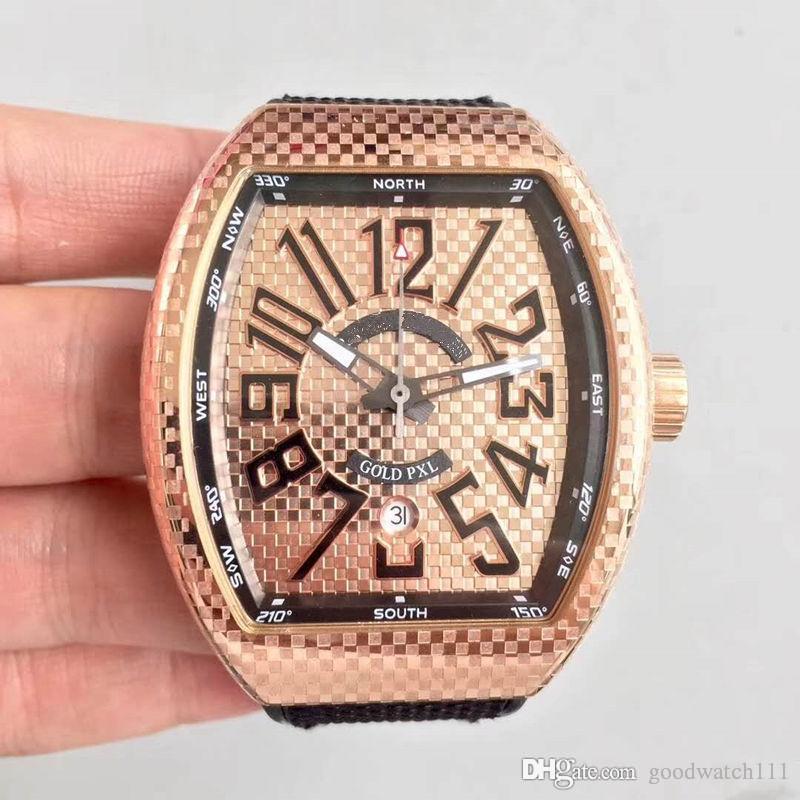 La dernière montre d'hommes de fer d'hommes d'usine d'AB. Montre mécanique 45mm. Mouvement automatique ETA2824 équipé de montres-bracelets super étanches