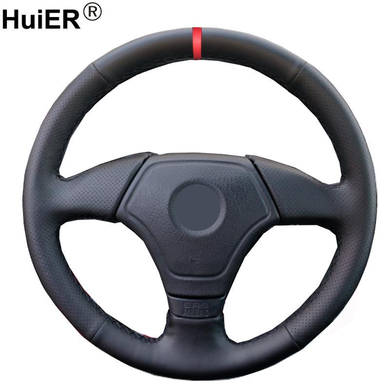 Hand Sewing Car Steering Wheel Cover Wrap For E36 1995-2000 E46 1998 1999 2000 E39 1995 1996-1999 E3 1995-1997 Funda Volante