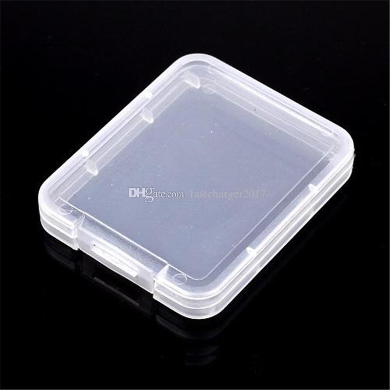 CF 카드 플라스틱 케이스는 투명 표준 메모리 카드 홀더 MS 흰색 상자 보관 케이스 박스 TF 마이크로 XD SD 카드 케이스