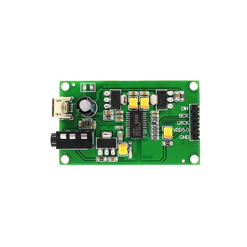 PCM5122 I2S IIS Raspberry Pi Entrée audio numérique DAC Conseil décodeur à AUX sortie analogique
