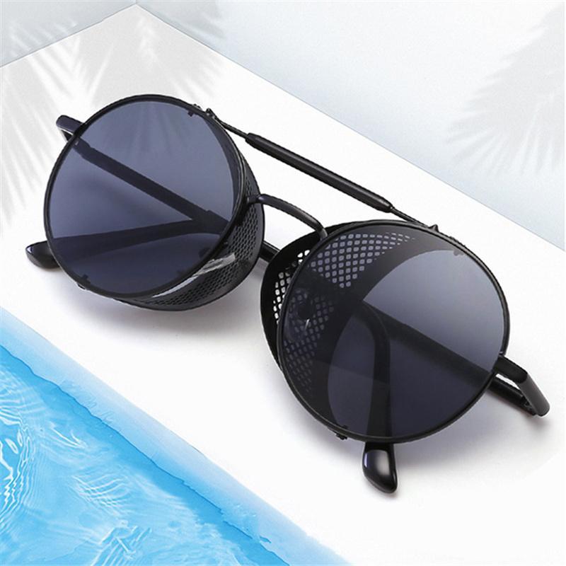 NYWOOH Металл Steampunk Солнцезащитные очки Мужчины Женщины Марка Vintage готическом Паровой Punk ВС очки ретро Eyewear очки