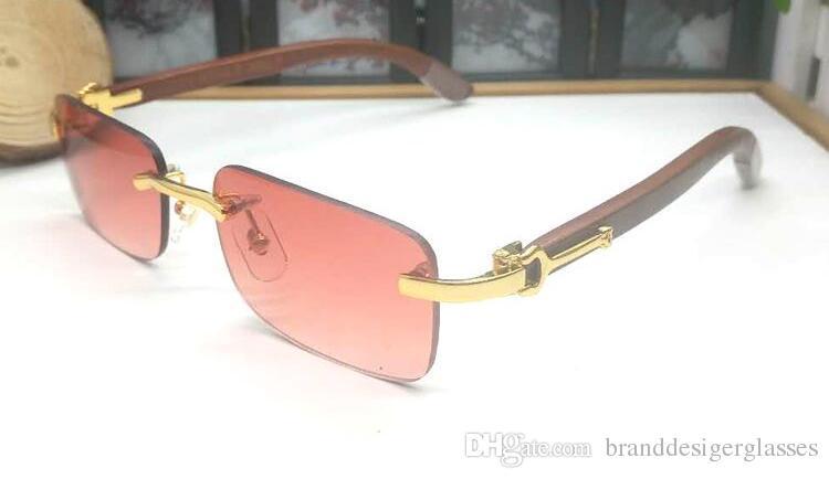 2019 Superior Suppliers Wholesale Rimless designer Sun glasses men classic GLASS Wooden sunglasses Buffalo Horn Sunglasses Frame